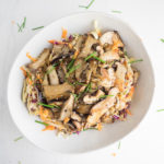 Warm Mushroom Salad with Asian Slaw