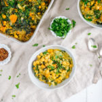 Brown Rice Casserole with Curry Butternut Squash