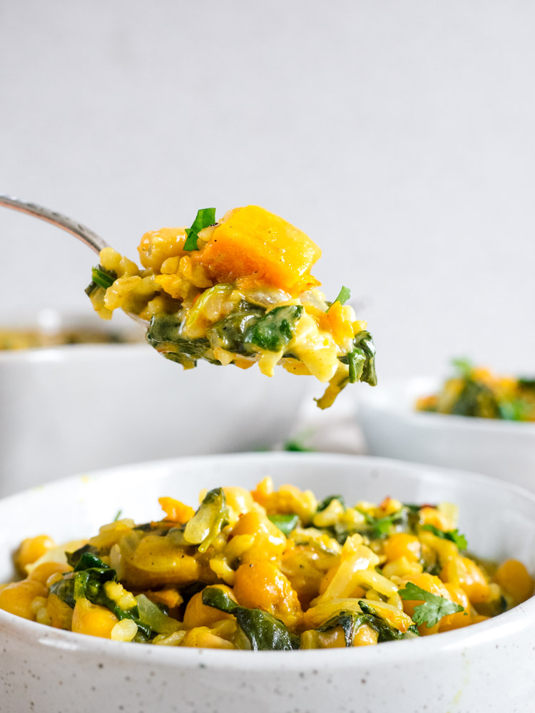 Brown Rice Casserole with Curry Butternut Squash | The ...